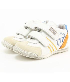Кроссовки для мальчика Белый/серый  ГЕРМАНИЯ 14LS-1373G