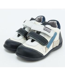 Кроссовки для мальчика белый/синий ГЕРМАНИЯ 14LS-1241G