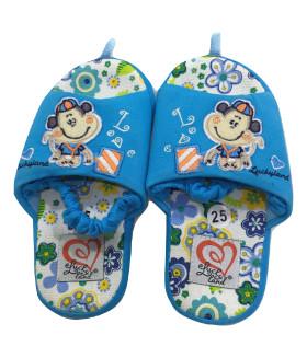 """Детские домашние тапочки """"PREMIUM"""" 1404LTD голубой цвет"""