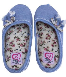 Детские домашние тапочки HAND MADE 1853LTD голубой цвет