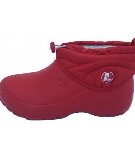 Галоши детские утепленные красные EVA 1591LGD